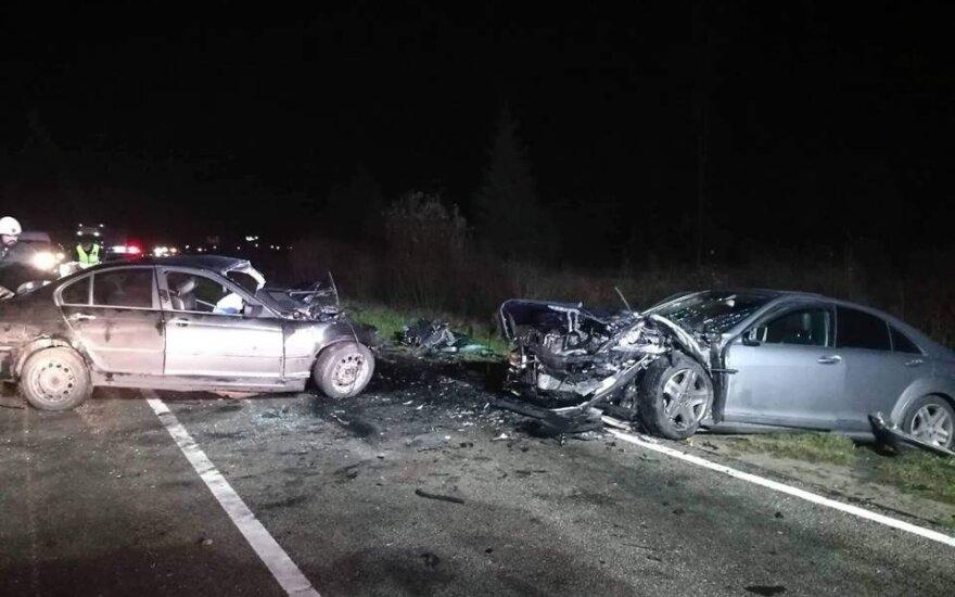 В Клайпедском районе произошло лобовое столкновение автомобилей, есть пострадавшие
