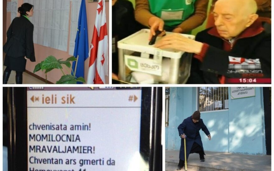 Выборы в Грузии: смс от священника, изменившийся Шеварднадзе и низкая явка