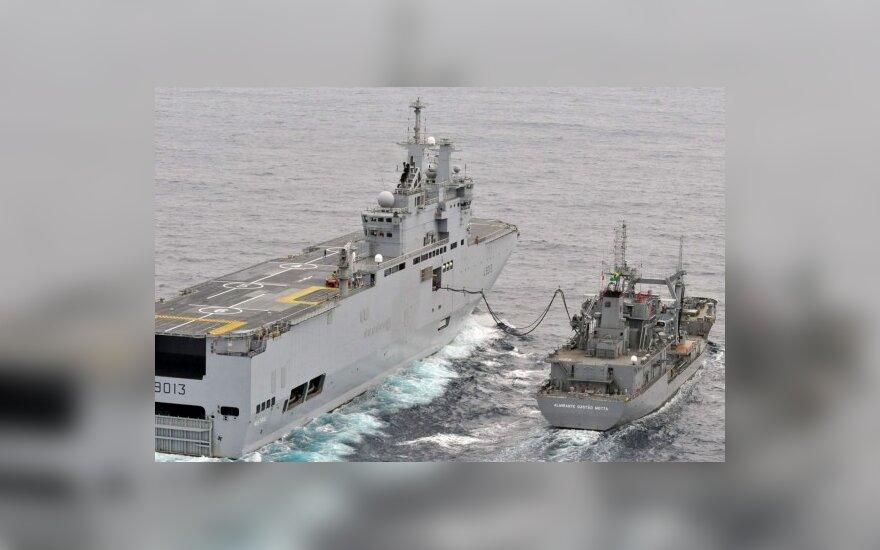 """Prancūzijos """"Mistral"""" karo laivas"""