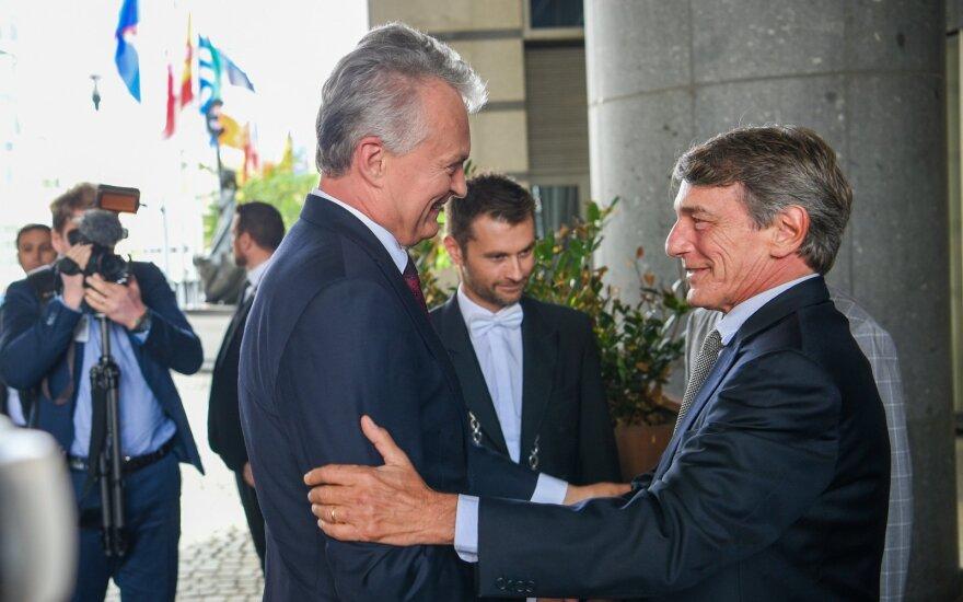 Встреча Науседы с председателем ЕП за закрытыми дверьми: реакция и на шаг Литвы в отношении России