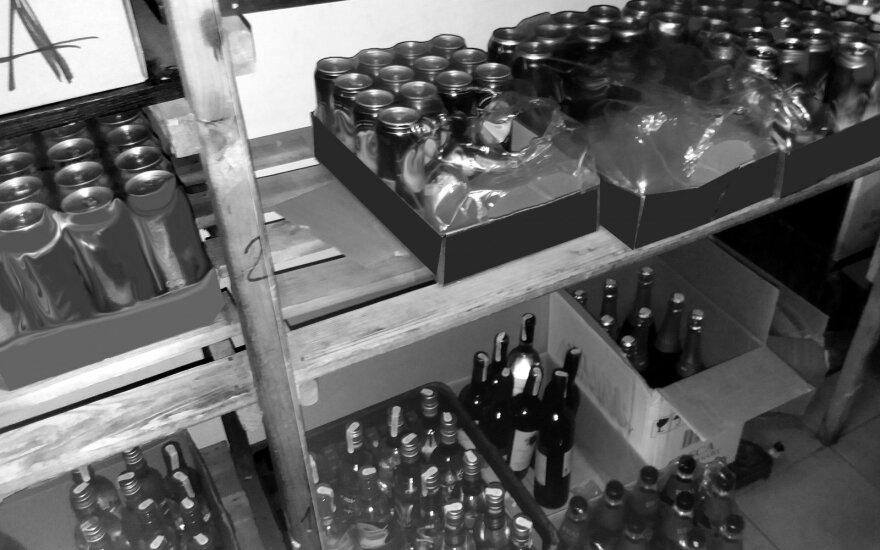 Degalinėje – alkoholio arsenalas