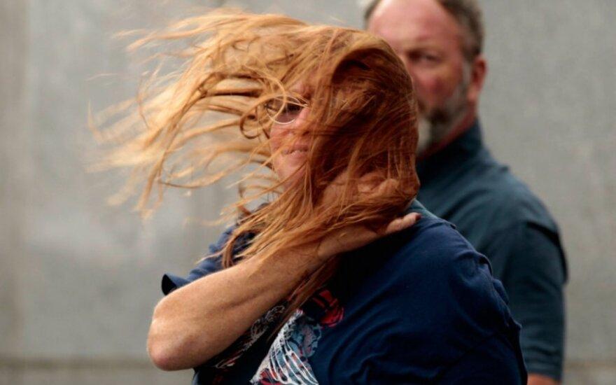 Niujorkas po prasiautusio uragano Irena