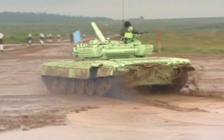 Rosjanie zdobyli złoto w czołgowym biathlonie