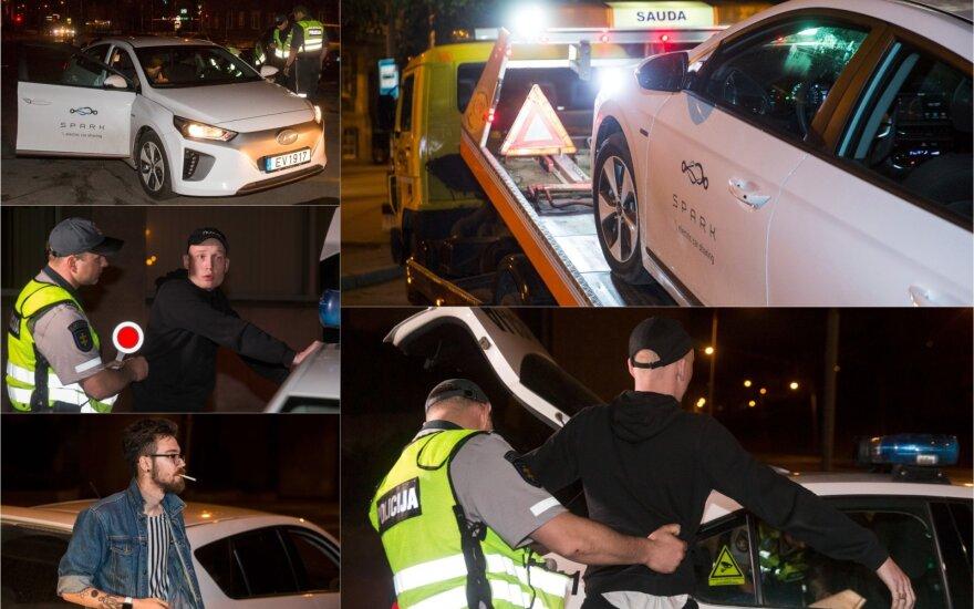 Ночью в Вильнюсе полицейские преследовали детей, взявших автомобиль в аренду