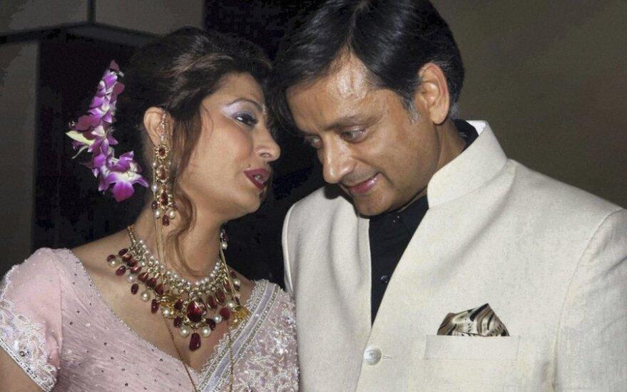 Shashi Tharooras ir Sunanda Pushkar
