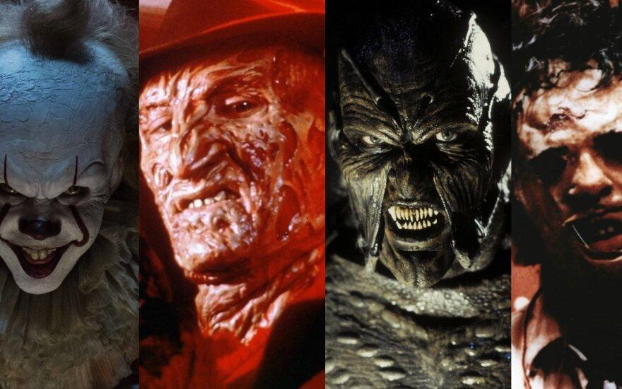 Siaubo filmų aktoriai su kaukėmis