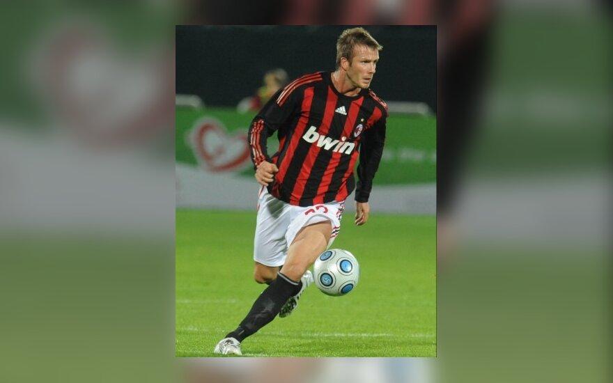 """Davidas Beckhamas (""""AC Milan"""")"""