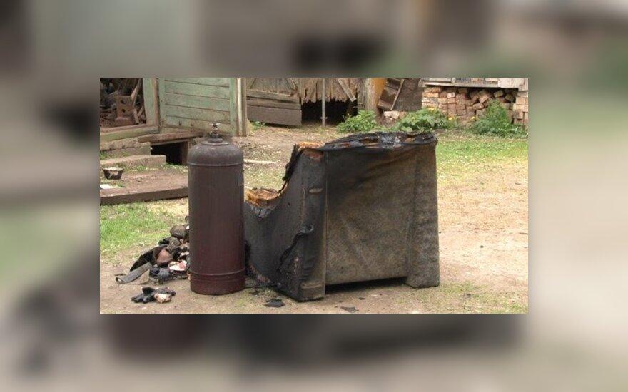 Šiaulių r., Padvalskių kaime, sudegintas negalią turintis vyras