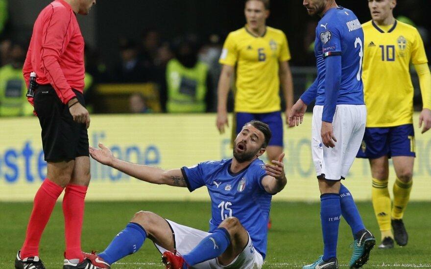 Pasaulio futbolo čempionato atranka: Italija - Švedija