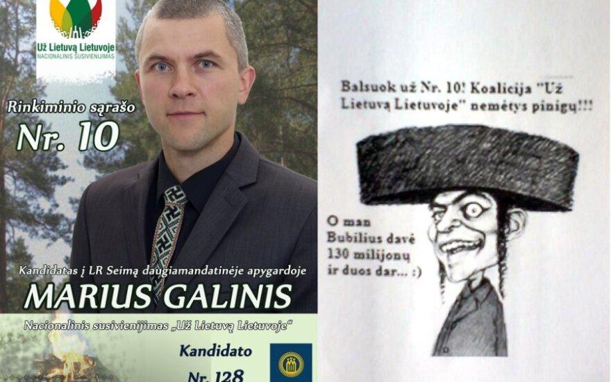 Agitacja narodowców: Krawat ze swastykami i antysemickie rysunki