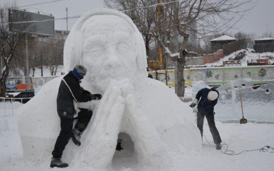 Lietuvis laimėjo sniego skulptūrų čempionatą
