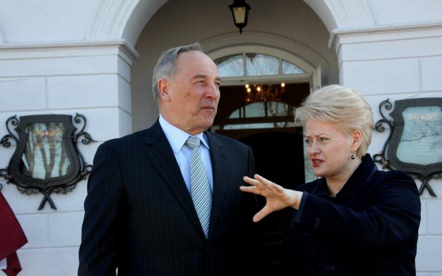 Andris Bėrzinis ir Dalia Grybauskaitė