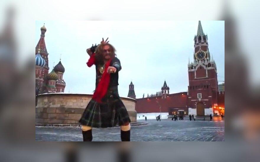 Джигурда станцевал на Красной площади Gangnam Style (ВИДЕО)