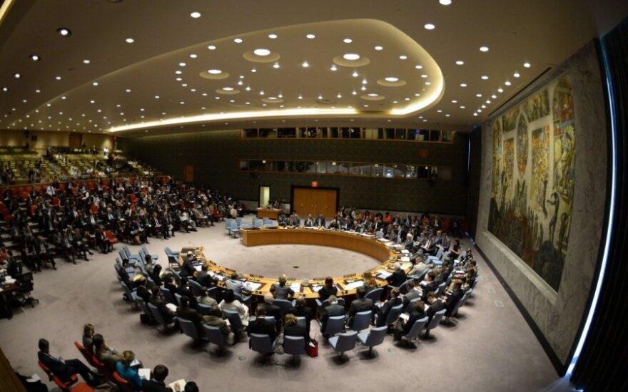 JT Saugumo Tarybos posėdis dėl rezoliucijos dėl lėktuvo katastrofos