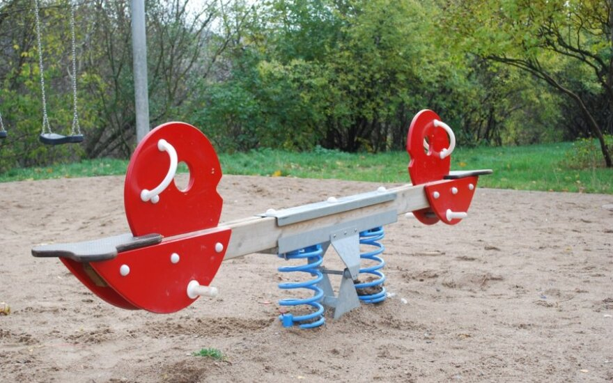В Паланге открылся бесплатный детский игровой парк