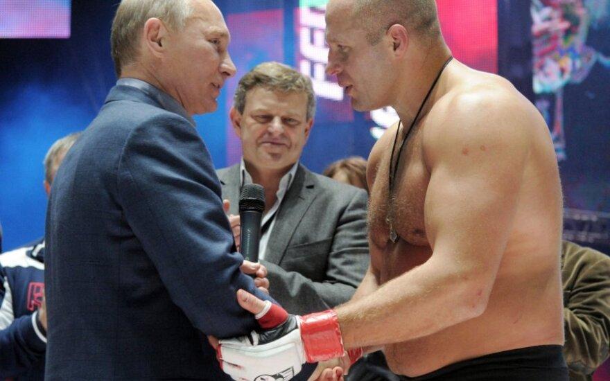 Vladimiras Putinas ir Fiodoras Jemeljanenka