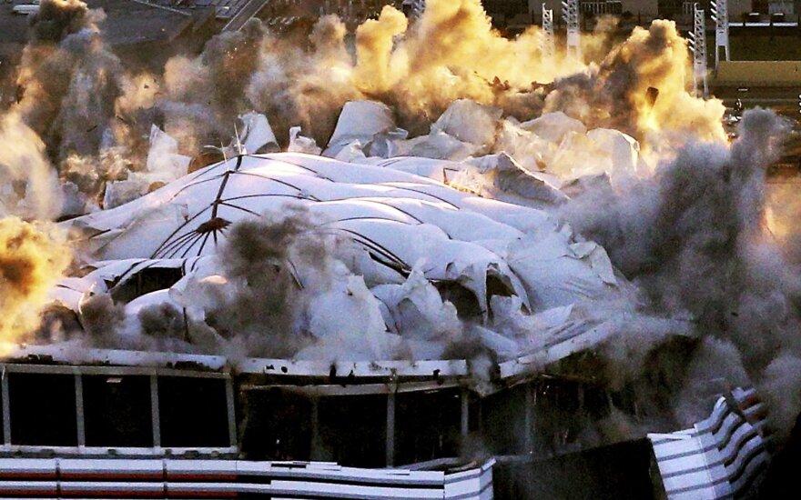 ВИДЕО: В США за 15 секунд снесли 70-тысячный стадион