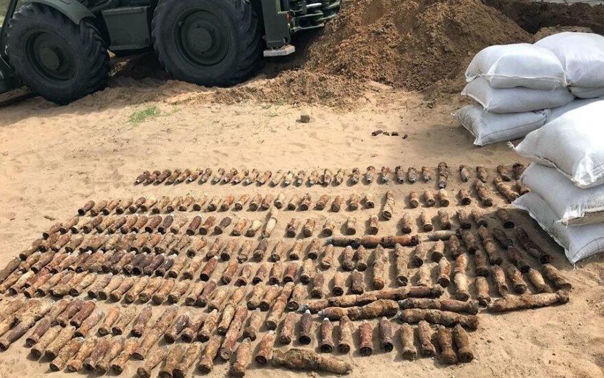 В Таурагском районе 4 дня проходила операция по обезвреживанию снарядов ВМВ