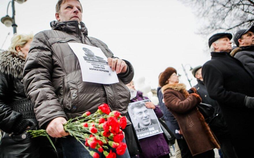 В Вильнюсе прошла акция памяти Бориса Немцова