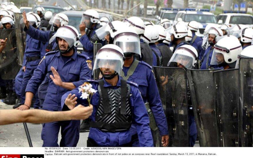 Bahreino policija išvaikė sukilimo metinių protestą