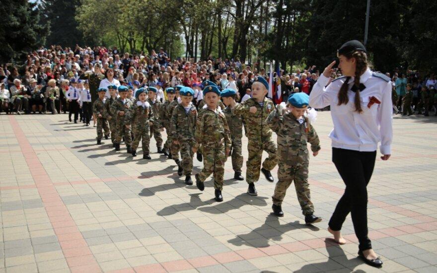 В Пятигорске прошел парад дошкольных войск
