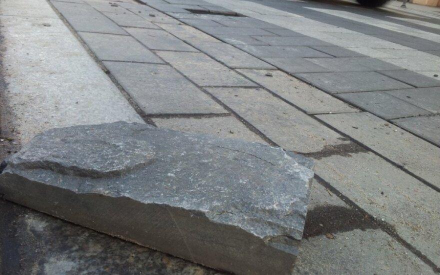 Прекращено расследование дела о брусчатке на проспекте Гедиминаса