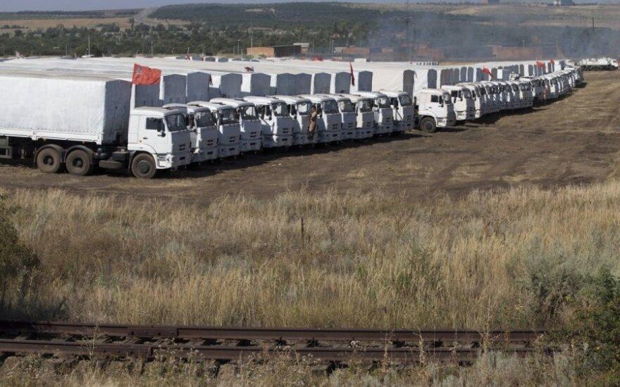 Kolumna z pomocą humanitarną z Rosji zatrzyma się pod Rostowem na kilka dni