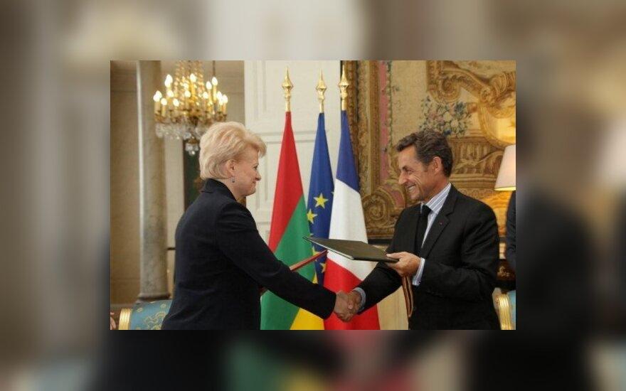 Dalia Grybauskaitė, Nicolas Sarkozy