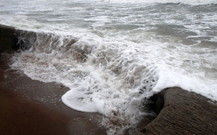 Baltijos jūra vėjuotą dieną (G. Šimtininkaitės nuotr.)