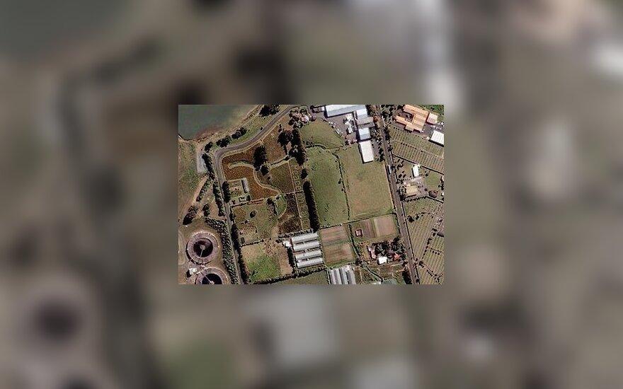"""Užrašas """"Peace on Earth"""" (""""Google Maps"""" vaizdas)"""