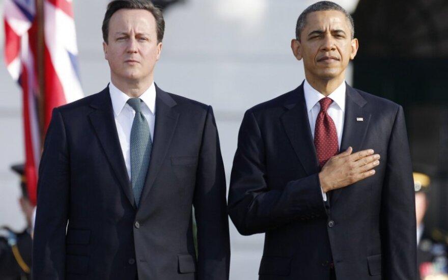 Didžiosios Britanijos premjero Davido Camerono apsilankymas pas JAV prezidentą Baracką Obamą