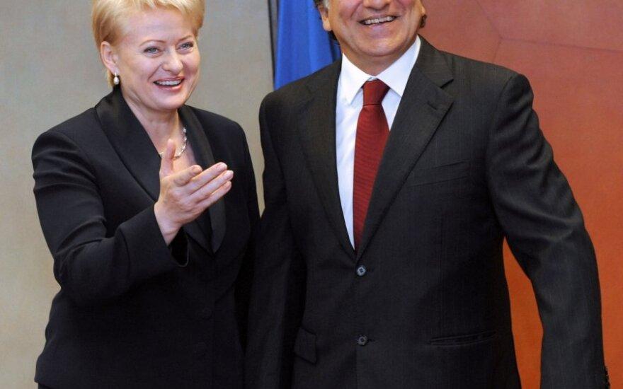 Dalia Grybauskaitė ir Jose Manuelis Barroso