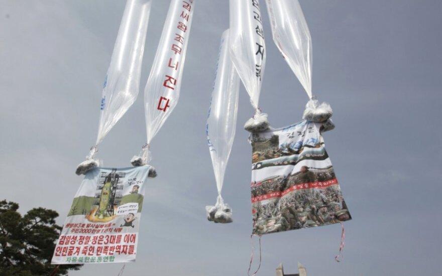 Pietų Korėją atsišaukimai prieš Šiaurės Korėją