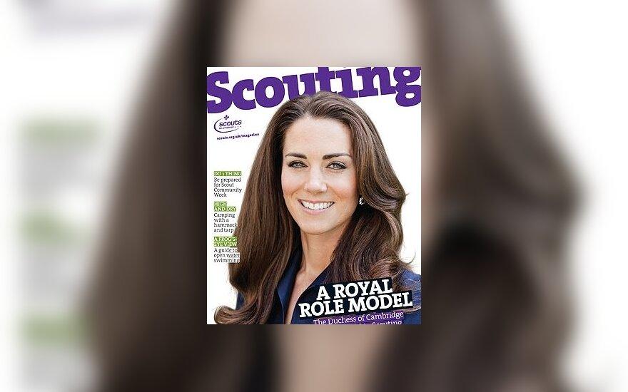 Kate Middleton ant žurnalo Scouting viršelio