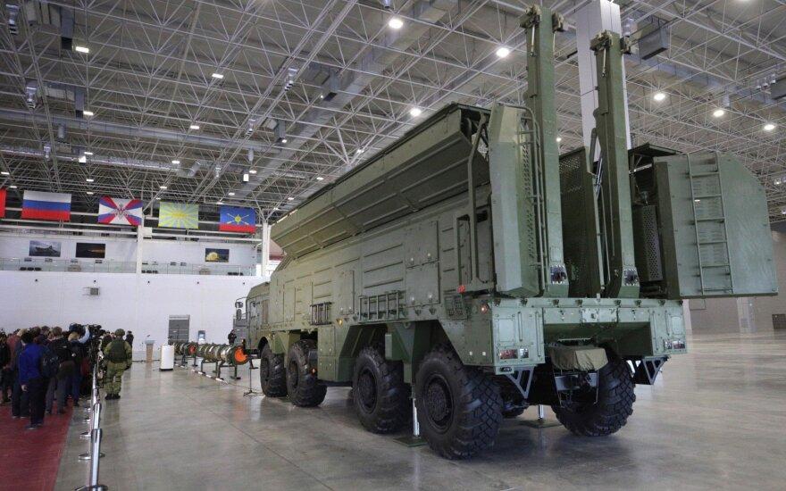Rusija viešai pademonstravo raketą, galinčią sužlugdyti ginkluotės sutartį su JAV