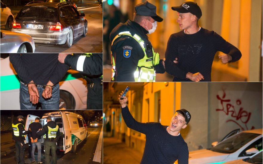Ночной рейд в Вильнюсе: хаос на улице, любители скорости и нетрезвые водители