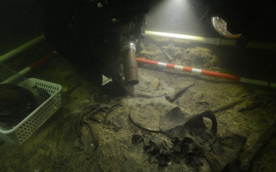 Первая подобная находка в Литве: на дне озера Асвея обнаружены останки воина эпохи Средневековья