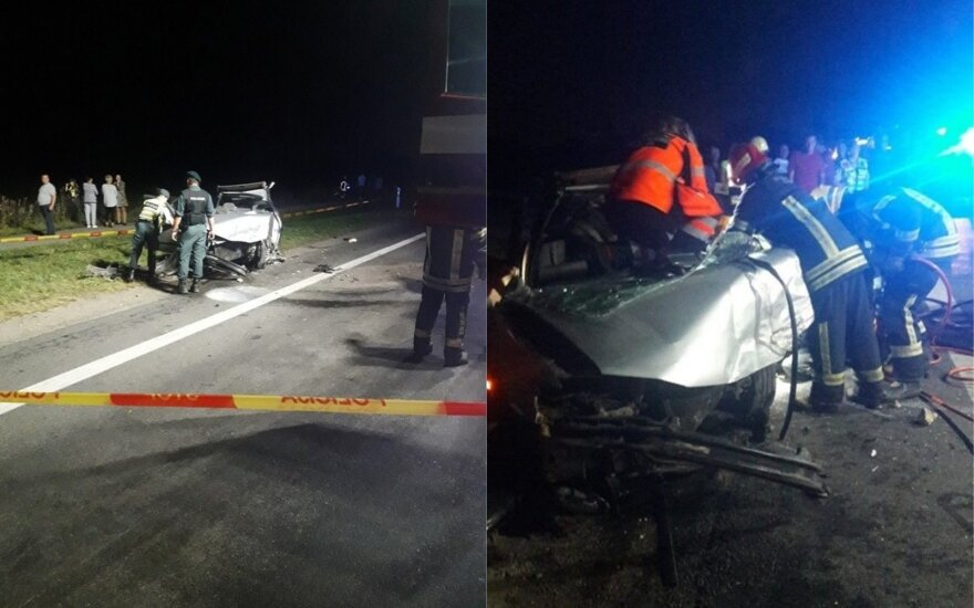 Жуткое ДТП на дороге Паневежис-Шяуляй: виновник был пьян и без прав