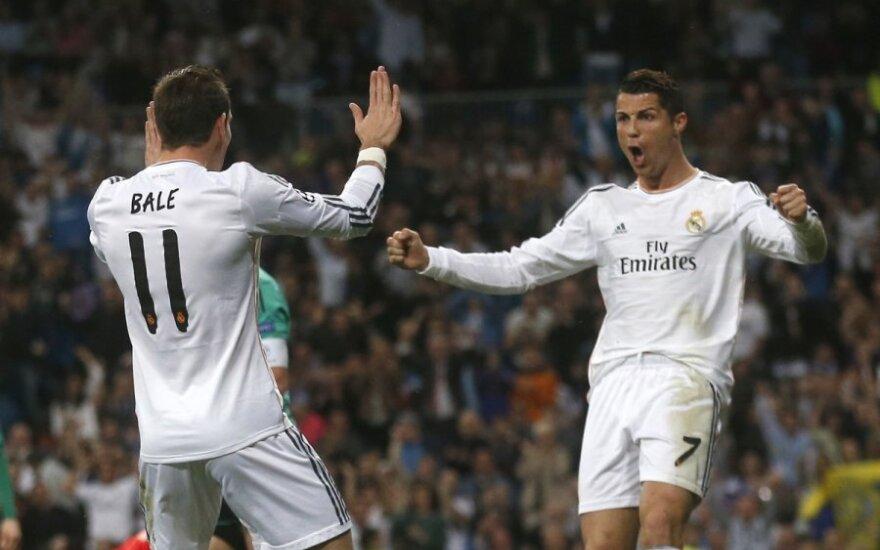 Garethas Bale ir Cristiano Ronaldo