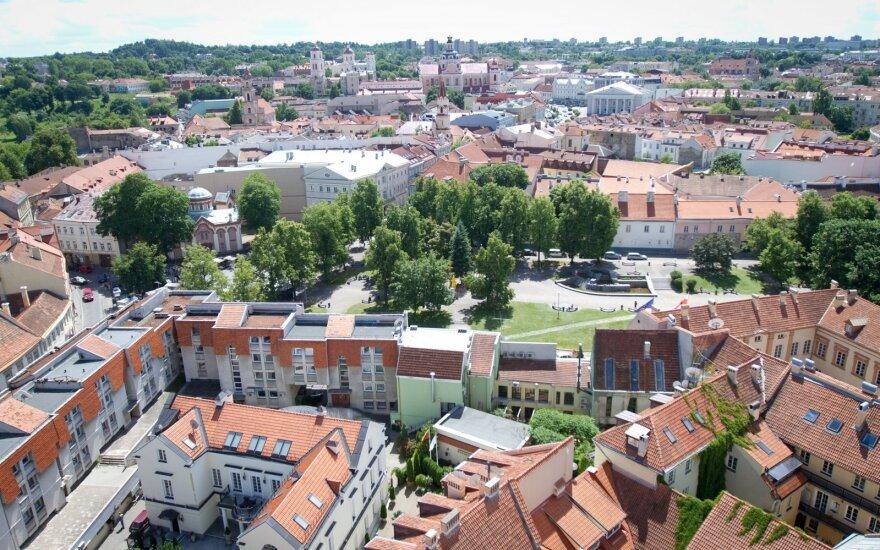 Vilnius nuo VU varpinės bokšto