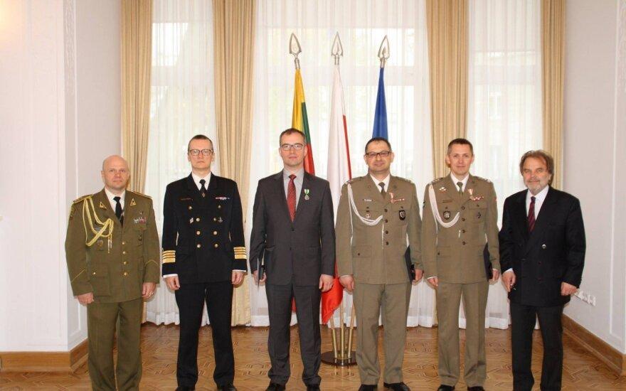 Wręczenie orderów dla LITPOLUKRBRIG. Foto: Ambasada Litwy w Polsce