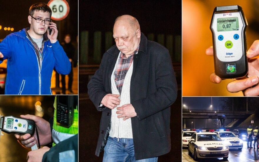 Рейд полиции в Вильнюсе: нетрезвые водители и поврежденные автомобили