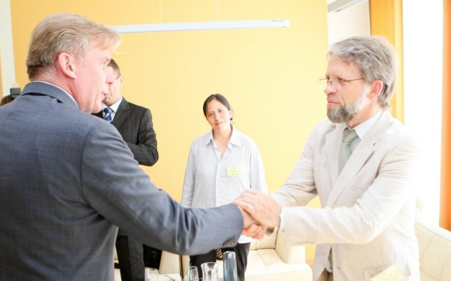 Audronius Ažubalis ir Antanas Mockus