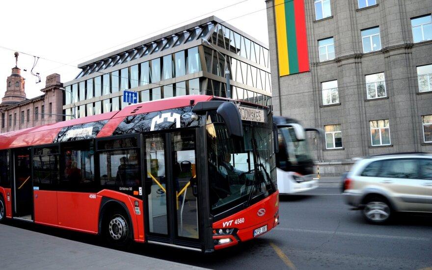 В Вильнюсе будет ограничен пассажирский поток в общественном транспорте