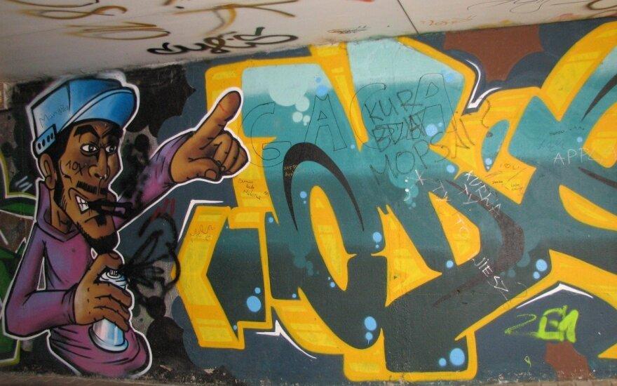 Legalne graffity w Wilnie