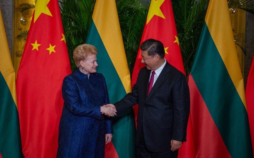 Президент Литвы встретилась с президентом Китая Си Цзиньпином