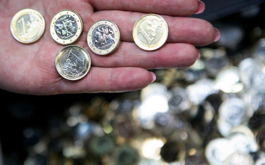 Отчеканена половина литовских монет евро