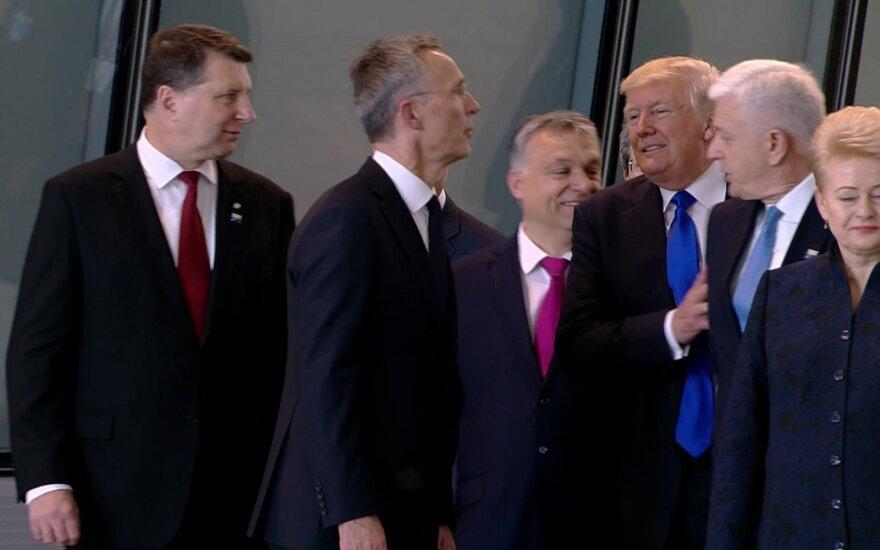 D. Trumpas NATO viršūnių susitikime