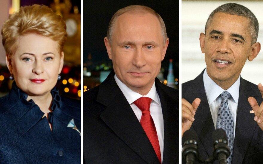Опрос: человек 2015 года в Литве - Грибаускайте, в мире - Обама и Путин