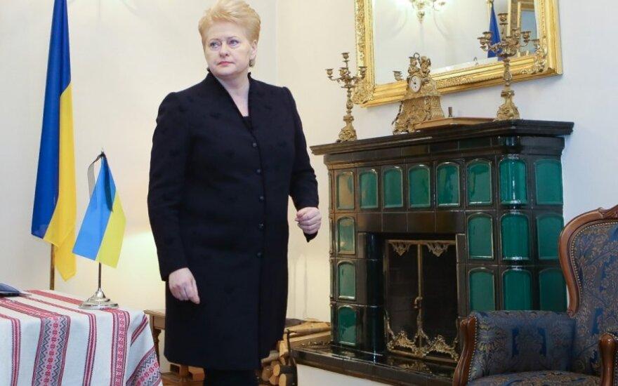Грибаускайте отправится на Украину за наградой